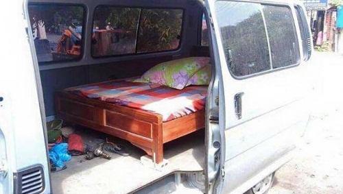 Xe giường nằm đúng nghĩa.