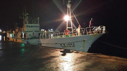 [Caption]tàuKwang Hyun 803cậpcảngVictoria ở quốc đảoSeychelles tối 23/6