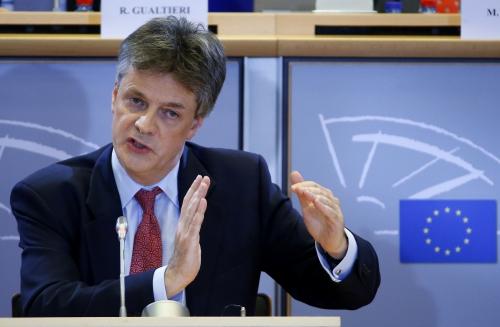 Ông Jonathan Hill tại Brussels, Bỉ. Ảnh: Reuters