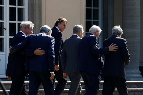 Ngoại trưởng 6 nước sáng lập EU, gồm Pháp, Đức, Bỉ, Luxembourg, Italy và Hà Lan,