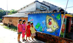 Làng bích họa của thanh niên Hàn Quốc ở Quảng Nam