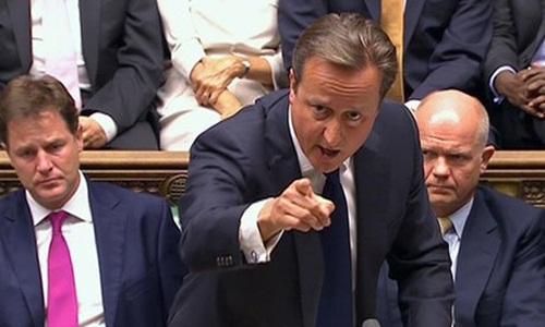 Thủ tướng Anh David Cameron phát biểu tại Quốc hội. Ảnh: