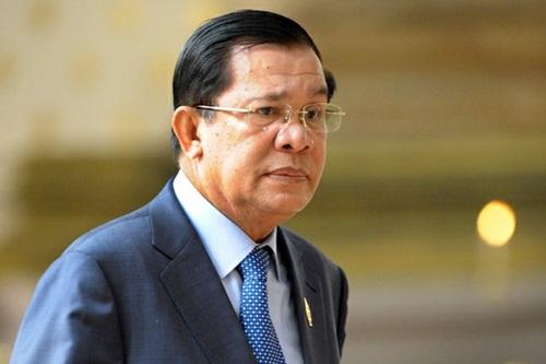 Thủ tướng Campuchi Hun Sen. Ảnh: AFP