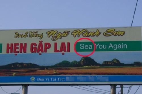TừSee trong câu See you again (Hẹn gặp lại) bị viết nhầm thành từ Sea -  tiếng Anh, thảm họa tiếng Anh, ngôn ngữ