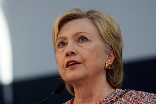 Bà Hillary Clinton, ứng viên tổng thống Mỹ đảng Dân chủ. Ảnh: Reuters.