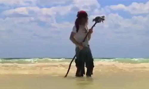 Bất ngờ khi săn cá nước lại được chim trời - săn cá