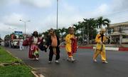 4 thầy trò Đường Tăng dẫn đường đám tang ở Bình Phước