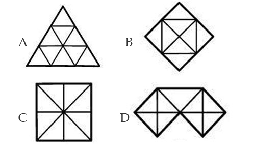 Hình nào có nhiều hình tam giác nhất?