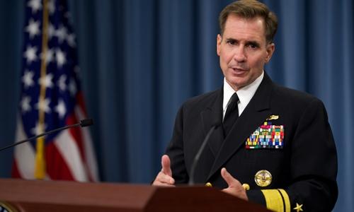 Phát ngôn viên Lầu Năm Góc John Kirby. Ảnh: Department of Defense.