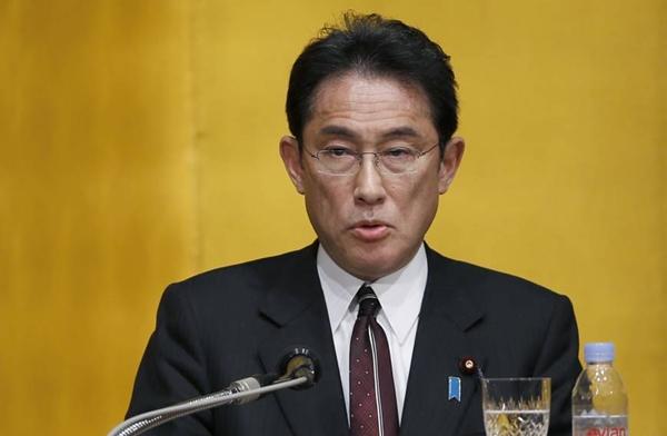 Ngoại trưởng Nhật Bản Fumio Kishida. Ảnh: AP.