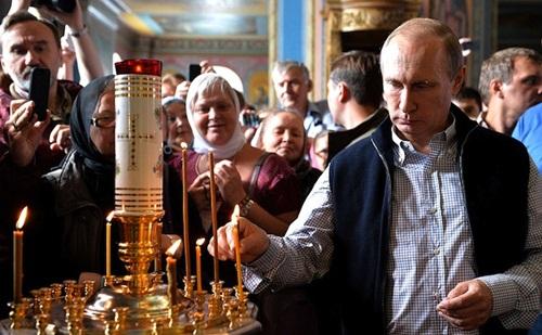 Tổng thống Nga Vladimir Putin tại Tu viện Valaam. Ảnh: Kremlin Press Service