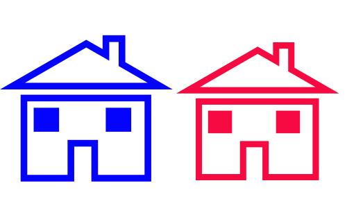 Bên trái đường có một căn nhà xanh, bên phải đường có một căn nhà đỏ. Vậy nhà trắng ở đâu?