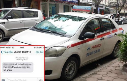 Tài xế taxi nhắn tin chửi khách vì không chịu đi xe của mình - taxi chui khach
