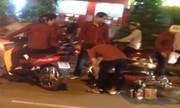 Hỗn chiến sau va chạm giao thông ở Sài Gòn