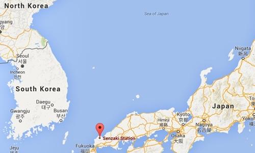 Vị trí thành phố cảng Senzaki, Nhật Bản. Đồ họa: Google Maps.