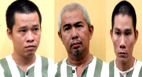 3 nghi can bị bắt giữ. Ảnh: Nguyệt Triều