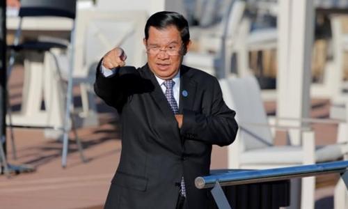 Thủ tướng Campuchia Hun Sen tại Hội nghị thượng đỉnh Á - Âu (ASEM) tổ chức tại Mông Cổ hôm 16/7. Ảnh: Reuters.