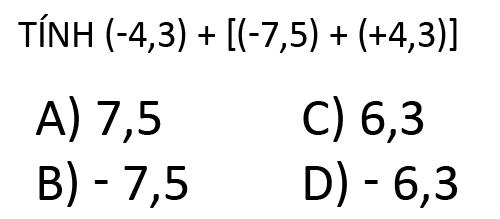 Kết quả của phép tính trên bằng bao nhiêu?