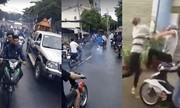 Hàng chục dân chơi xe máy nẹt pô, đánh nhau náo loạn đám tang