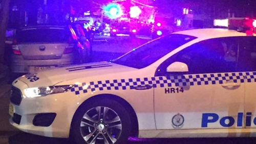 Một xe cảnh sát tại hiện trường vụ việc ởMerrylands. Ảnh: BBC