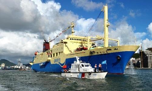 Một tàu du lịch Trung Quốc từng ra quần đảo Hoàng Sa trái phép. Ảnh: Xinhua