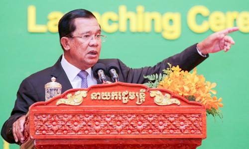 Thủ tướng Hun Sen bị cáo buộc đàn áp các đối thủ chính trị. Ảnh minh họa: Khmer Times.