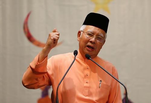 Thủ tướng Malaysia Najib Razak hôm nay phát biểu tại Kuala Lumpur. Ảnh: Reuters