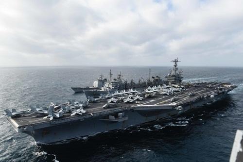 Tàu sân bay Mỹ từng tham gia hoạt động ở Biển Đông. Ảnh: USNavy