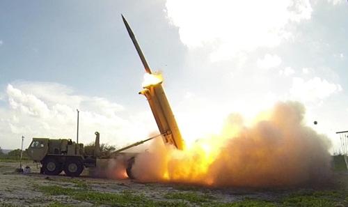 Hệ thống THAAD được phóng thử năm 2015. Ảnh: MissileDefenseAgency