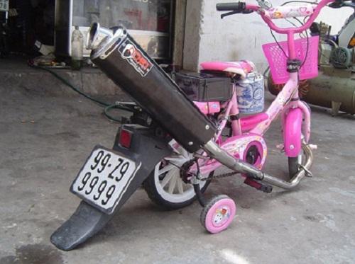 Siêu xe hai bánh cho các thiên thần nhí - xe tự chế, chất nhất Việt Nam