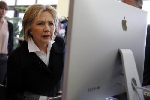 Ứng viên tổng thống đảng Dân chủ Hillary Clinton. Ảnh: Reuters