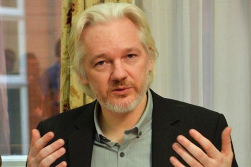Julian Assange, ông chủ trang Wikileaks. Ảnh: Reuters