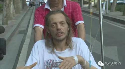 Alexander Pieter Cirk phải nhập viện vì kiệt sức. Ảnh: CCTV News.