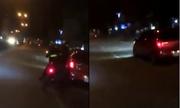 Xe Kia Morning ép ngã hai cảnh sát cơ động khi bị truy đuổi