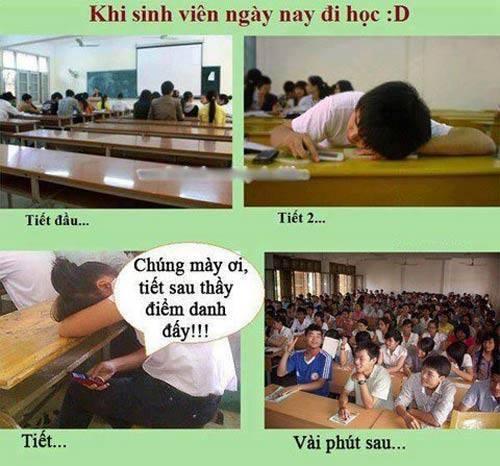 Chuyện đi học của sinh viên thời nay - ảnh hài hot nhất Facebook trong ngày, 10 ảnh hot Facebook