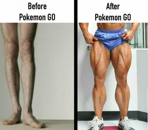 Pokemon Go giúp bạn rèn luyện cơ chân cực tốt