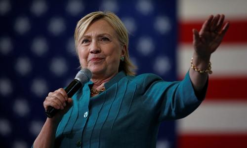 Ứng viên tổng thống đảng Dân chủ Hillary Clinton. Ảnh: Reuters.