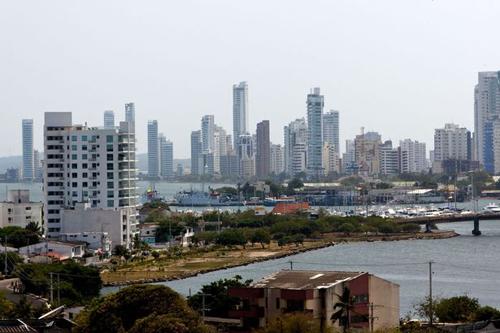 [Caption]thành phố cảng Cartagena de Indias, bờ biển phía bắc Colombia.
