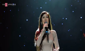 Lam, Nhung, Linh, Hà hát trong đêm diva Việt