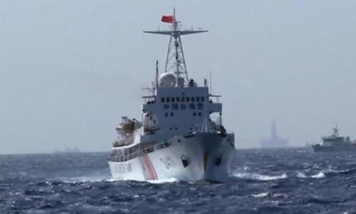 Một tàu hải cảnh của Trung Quốc. Ảnh: Reuters TV.