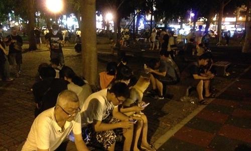 Trò chơi Pokemon đang gây sốt ở Đài Loan. Ảnh: Apple Daily.