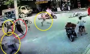 Cướp giật dây chuyền chạy tán loạn vì bị cảnh sát và dân truy đuổi - Cướp giật dây chuyền