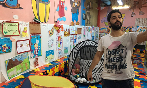[Caption]Asmar Halabi, the orphanages director.