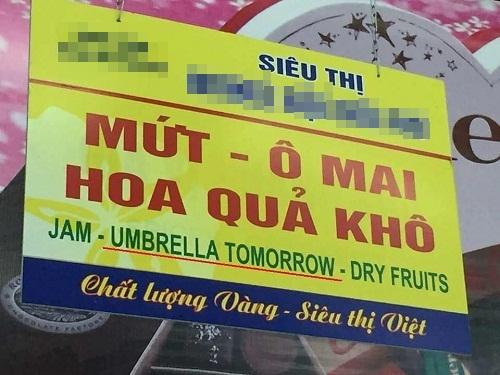 Hóa ra ô mai là kết quả của phép ghép từ cái ô (umbrella) và ngày mai (tomorrow) - thảm họa tiếng Anh, chỉ có ở Việt Nam