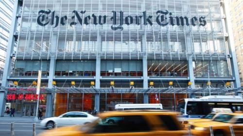 Trụ sở toà soạn báo New York Times. Ảnh: Reuters
