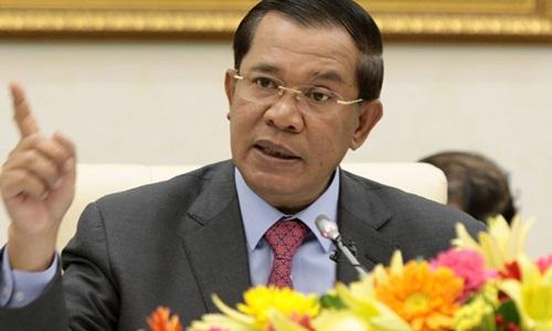 Thủ tướng Campuchia Hun Sen. Ảnh:Cambodia Herald