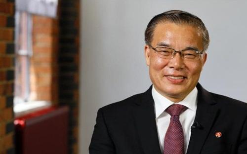 Ông Hyon Hak-bong, Đại sứ Triều Tiên tại Anh. Ảnh: AP