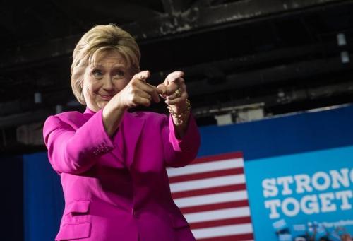Bà Hillary Clinton, ứng viên tổng thống đảng Dân chủ. Ảnh: AFP