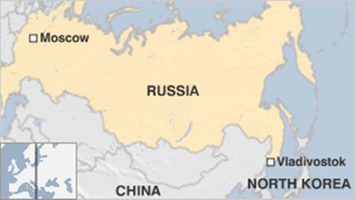Vị trí thành phố Vladivostok. Đồ họa: BBC