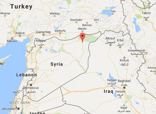 Vị trí thành phố Hasakeh, Syria. Đồ họa: Google Maps.